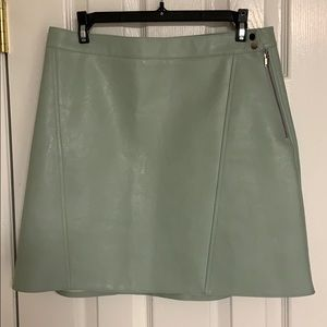 Zara A-line faux leather skirt